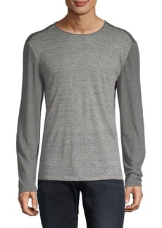 John Varvatos Linen Striped T-Shirt