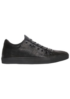 John Varvatos Lizard Embossed Leather Sneakers
