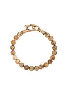 John Varvatos logo beaded bracelet