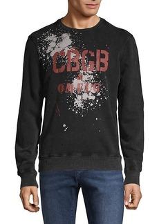 John Varvatos Logo Graphic Cotton Sweatshirt