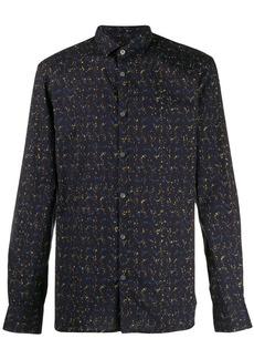John Varvatos long sleeve abstract print shirt