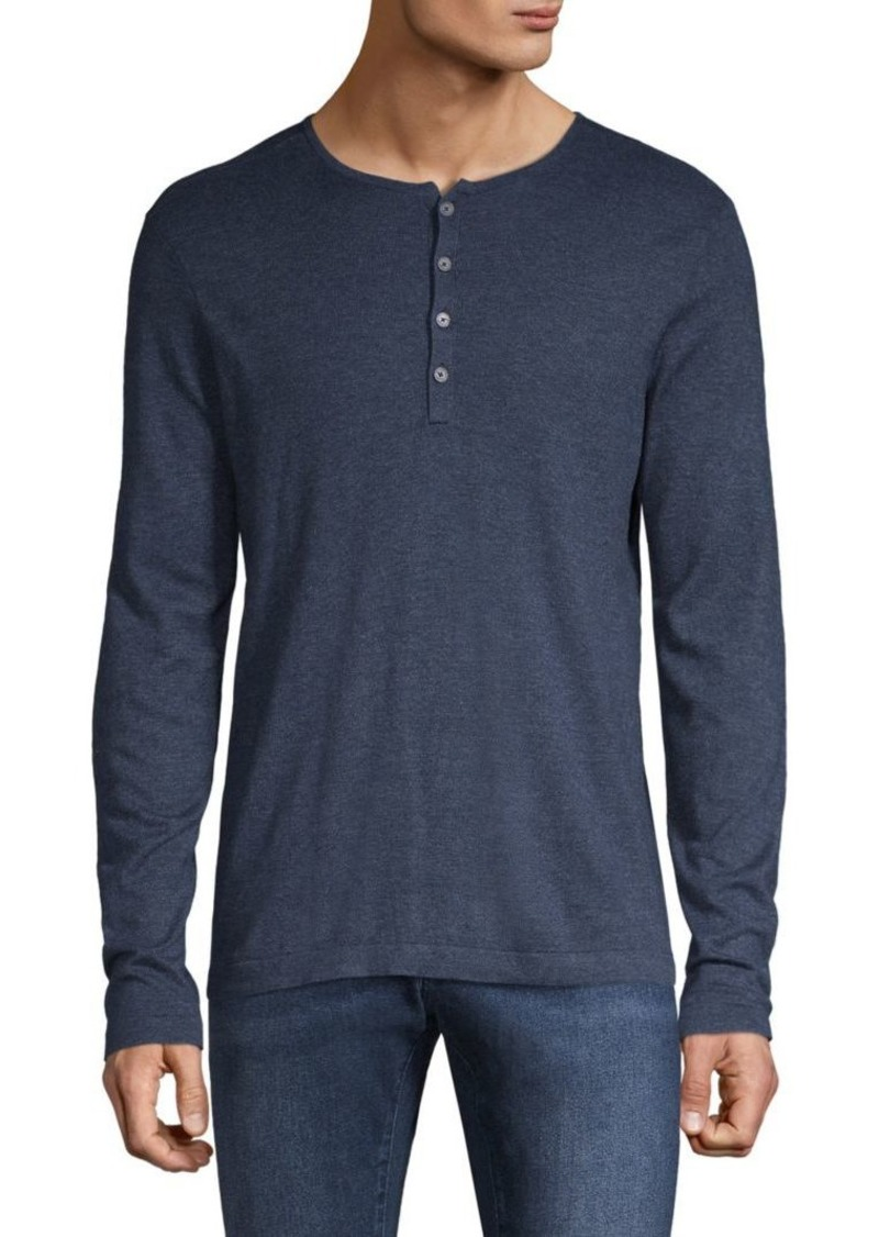 John Varvatos Long-Sleeve Cotton-Blend Henley