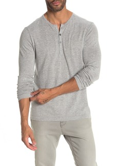 John Varvatos Long Sleeve Henley Sweater
