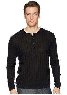 John Varvatos Long Sleeve Rib Henley Y2380U1