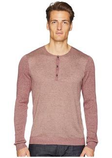 John Varvatos Long Sleeve Texture Stitch Henley Y2430U2