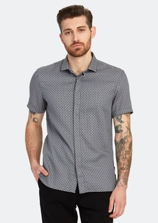 John Varvatos Loren Slim Fit Short Sleeve Sport Shirt