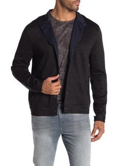 John Varvatos Snap Front Knit Jacket