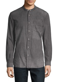 John Varvatos Mandarin Collar Button-Down Shirt