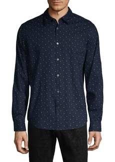 John Varvatos Mayfield Slim-Fit Print Shirt