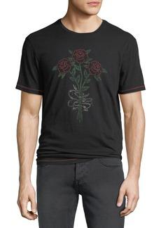 John Varvatos Men's 3 Barbed Rose Graphic T-Shirt