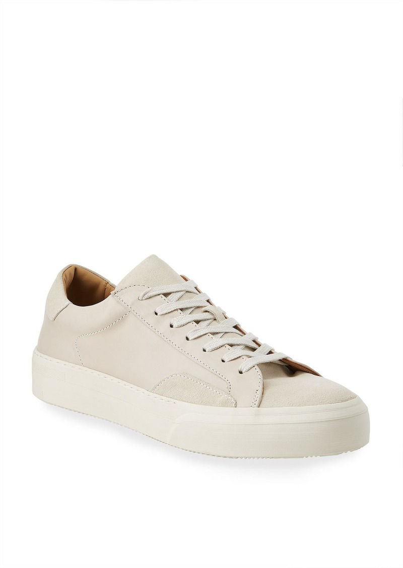 John Varvatos Men's 315 Mac Leather/Suede Tonal Sneakers