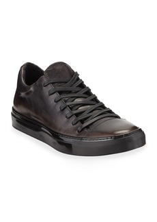 John Varvatos Men's 315 Reed Leather Low-Top Sneakers  Black
