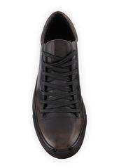 John Varvatos Men's 315 Reed Leather Low-Top Sneakers  Black