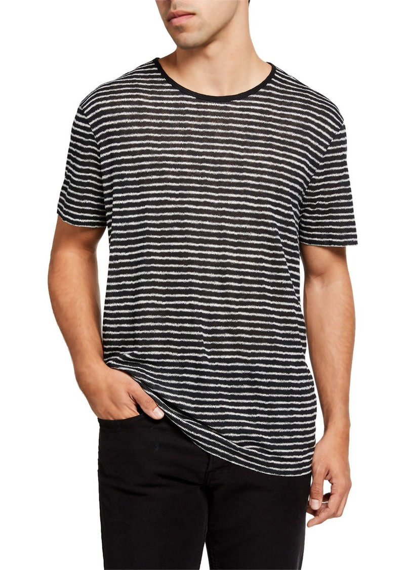 John Varvatos Men's Adrian Zigzag Striped T-Shirt
