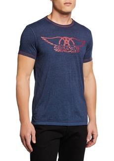John Varvatos Men's Aerosmith Logo T-Shirt