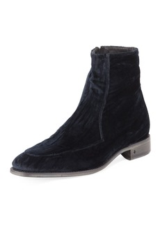 John Varvatos Men's Amsterdam Apron-Toe Velvet Boot
