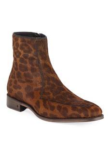 John Varvatos Men's Amsterdam Calf Hair Apron Boots