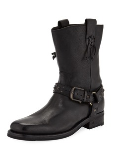 John Varvatos Men's Berlin Leather Harness Boots