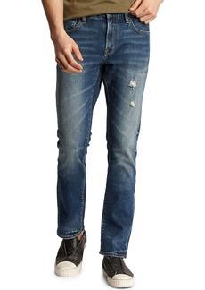 John Varvatos Men's Bowery Roadie Wash Slim Distressed Stretch Denim Jeans