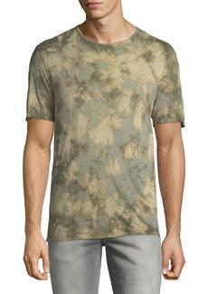 John Varvatos Men's Camo Tie-Dye Jersey T-Shirt