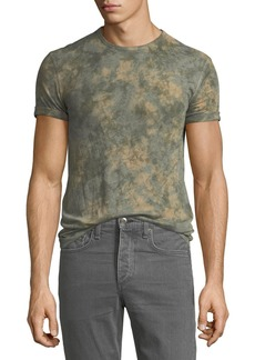 John Varvatos Men's Camo Tie-Dye Viscose T-Shirt