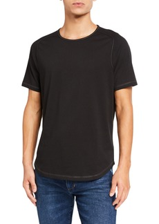 John Varvatos Men's Connor T-shirt with Contrast Stitching