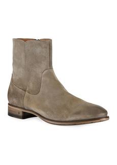 John Varvatos Men's Eldridge Zip Suede Boots