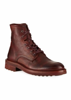 John Varvatos Men's Essex Lace-Up Leather Boots