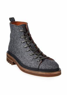 John Varvatos Men's Essex Trooper Wool Felt Ankle Boots