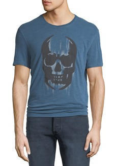 John Varvatos Men's Faded Skull Graphic T-Shirt