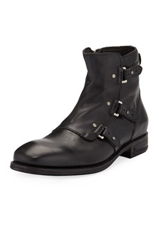 John Varvatos Men's Fleetwood Pin Strap Leather Boots