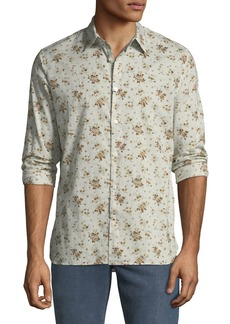 John Varvatos Men's Floral Button-Down Cotton Shirt