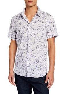 John Varvatos Men's Floral Short-Sleeve Sport Shirt