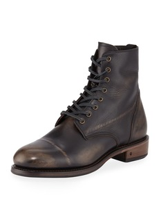 John Varvatos Men's Folsom Leather Lace-Up Boot