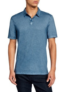 John Varvatos Men's Gunpowder Wash Polo Shirt