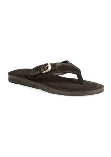 John Varvatos Men's Havana Suede Buckle Thong Sandals