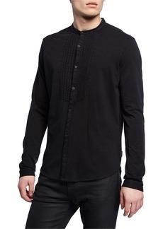 John Varvatos Men's Heath Pleated-Bib Sport Shirt