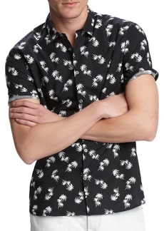 John Varvatos Men's Jasper Palm Toss Printed Short-Sleeve Sport Shirt