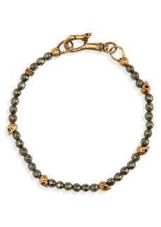 Men's John Varvatos Skull Bead Bracelet