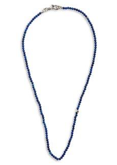 Men's John Varvatos Skull Bead Necklace