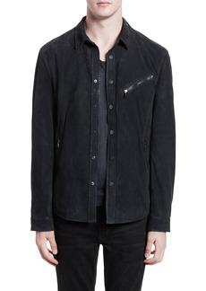 Men's John Varvatos Suede Shirt Jacket