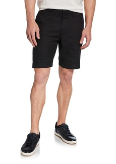 John Varvatos Men's Johnny Flat-Front Twill Shorts