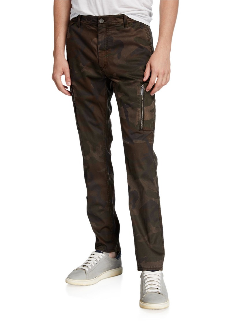John Varvatos Men's Kurtz Slim-Fit Camo Cargo Pants