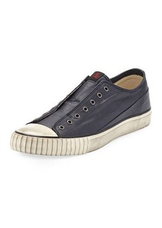 John Varvatos Men's Laceless Coated Canvas Low-Top Sneakers