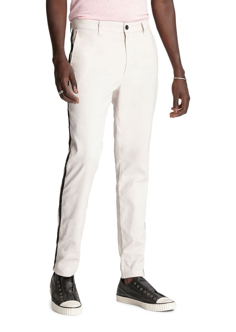 John Varvatos Men's Lenny Side-Stripe Chino Pants