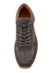 John Varvatos Men's Les Varsity Suede Trainer Sneakers