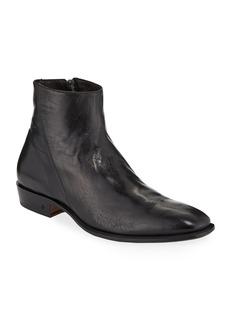John Varvatos Men's Lewis Leather Side-Zip Boots