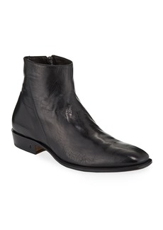 John Varvatos Men's Lewis Leather Side-Zip Boots
