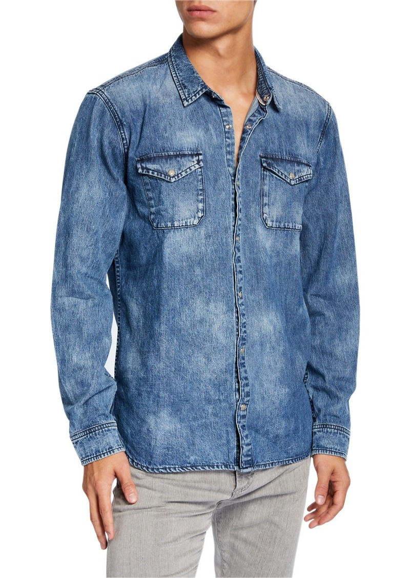 John Varvatos Men's Lightweight Denim Shirt