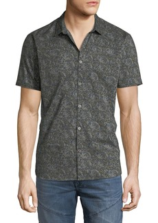 John Varvatos Men's Lion Graphic Print Shirt